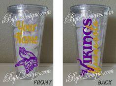 Custom  Minnesota Vikings  16 oz. or 32 oz. by iByteDesigns