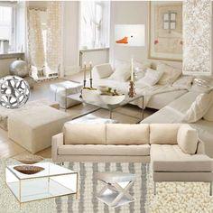 My cream living room design @obs form Décor