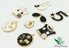 """Charms – Charm """"5"""",charm medallion, Jewelry DIY, 2pcs – a unique product by…"""