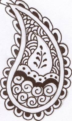 Paisley henna designs for mehndi art Motif Paisley, Paisley Art, Paisley Design, Paisley Pattern, Paisley Doodle, Henna Designs, Bridal Mehndi Designs, Tattoo Designs, Henna Patterns