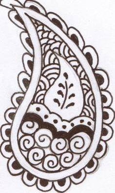 Paisley henna designs for mehndi art / henna tattoos.