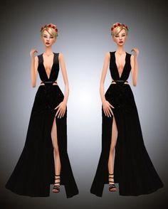 Sims 4 long dress cc & rs