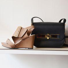 Le sac Amedee et les sandales Largo  #bag #black #sandals #fashion #shoes