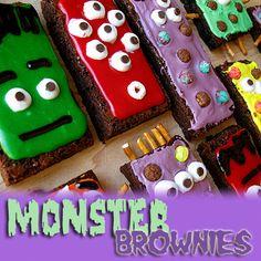 Monster Brownies | Amanda's Cookin'