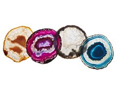 stunning agate coasters- the perfect gift for nearly all my girlfriends.