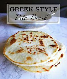 Greek Style Pita Bread - The Beautiful Balance