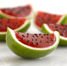 Watermelon Lime Jello Shots.