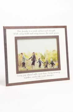 Ben's Garden 'Our Family Is a Circle' Picture Frame (5x7) available at #Nordstrom