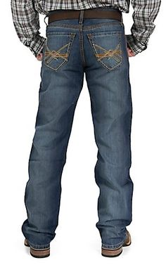 Cinch Men's Medium Wash Grant Mid Rise Relaxed Fit Boot Cut Jean 75237002   Cavender's
