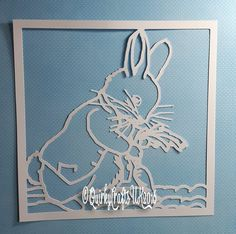 6 x Peter Rabbit papercutting template| Beatrix Potter, New baby, baby shower, nursery decor| Commercial Licence|Instant download by QuirkyCraftsUK on Etsy