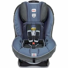 Britax Pavilion G4 Convertible Car Seat - Blueprint: The BRITAX PAVILION convertible car seat accommodates children rear facing from 5-40 lbs (2,3-18 kg) and forward facing from 20-65 lbs (9,1 up to 29,4 kg). The PAVILION is purposefully designed and engineered to minimize the forward movement of your child's head during a frontal impact to reduce the risk of head injury with the following revolutionary BRITAX head safety technologies.