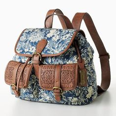 Chaps Floral Mini Backpack