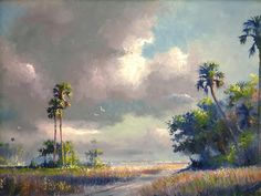 Harold Newton - Highwaymen Paintings Vintage Florida, Old Florida, African American Artist, American Artists, Watercolor Landscape, Landscape Paintings, Tropical Art, Art For Art Sake, Beach Art
