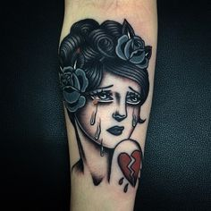 broken heart pin up tattoo Pin Up Girl Tattoo, Pin Up Tattoos, Body Art Tattoos, New Tattoos, Girl Tattoos, Tattoos For Guys, Sleeve Tattoos, Tattoos For Women, Tatoos