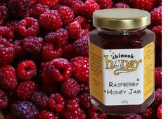 Raspberry Honey Jam - Our Raspberry Honey Jam is crammed full of flavour and the honey makes it extra special. Just like honey itself, this jam is for more than toast. It's time to look at jam and jelly differently! There are many creative ways to use it, including as a glaze for meats, inside sandwiches, mixed in a yogurt parfait, as a feature in desserts, to make flavoured butter, for a tasty salad dressing and even a for classy cocktail. The sky is the limit.