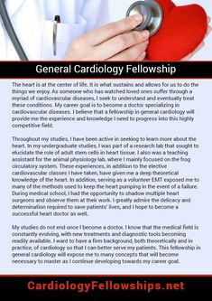 Career Goal Statement Interesting Get Into A Fellowshipusing This General Cardiology Fellowship .