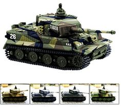 Radio Remote Control Mini Rc German Tiger I Panzer Tank with Sound Toys - Cheerwing German Tiger I Panzer Tank Remote Control Mini RC tank with Sound, Rotating Turret and Recoil Action When Cannon Artillery Shoots (Vary Colors) Rc Tank, Best Christmas Gifts, Christmas Fun, Best Baby Toys, Tiger Tank, Tiger Tiger, Battle Tank, Best Birthday Gifts, Remote Control Toys