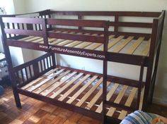bunk bed assembled in annapolis MD by Furniture assembly experts LLC