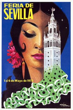 Feria de Sevilla, 1973 - aahh, this is that gorgeous picture I see everywhere when I go to Seville :) Beautiful!