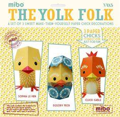 Papieren dieren DIY The Yolk Folk van Mibo.