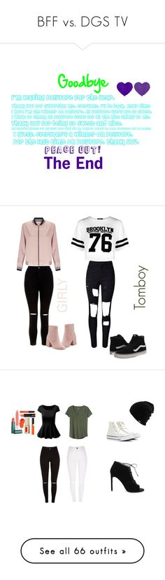 """""""BFF vs. DGS TV"""" by sierra-ivy on Polyvore featuring Miss Selfridge, WithChic, Boohoo, New Look, Sam Edelman, Vans, Gap, Converse, Yves Saint Laurent and City Chic"""