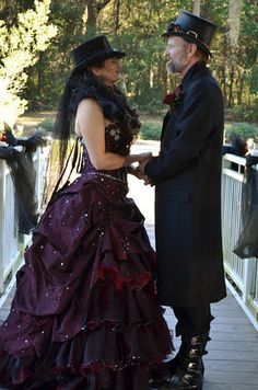 Steampunk Wedding Dress Available in many by WeddingDressFantasy, $925.00