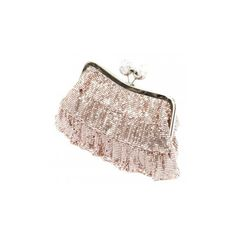 Koko Designer Champagne Clutch Bag Silver Frill Chainmail Evening Found