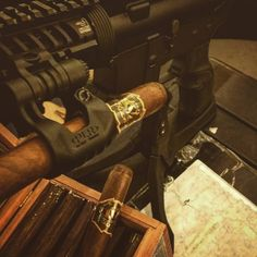 We are in Vegas and we are locked and loaded and ready to go!  #ShotShow #Shot #guns #gunsandcigars #cigarsandguns #vegas #lasvegas #lv #cigar #cigars #cigarlife #cigarlifestyle #tobacco #smoke #smoking #aim #fire #shoot #shooting #stogie #stogiepress #luxurytothefield by valentiacigars