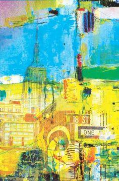 "Saatchi Art Artist GABY  JOSEPHINE; Printmaking, ""MAGIC  BUILDING - Limited Edition 1 of 1"" #art"