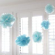 Blue & Light Blue Pom Pom Garland 3m