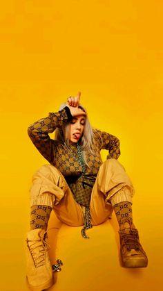 Isdb - 📷 photo story of (billie eilish), june 2018 Billie Eilish, Mode Punk, Photo Story, Yellow Background, Celebs, Celebrities, My Idol, Cool Stuff, Wallpapers