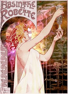 Art Nouveau Posters are Perfect for the décor of the castle - and this one moves! So beautiful and sparkly!