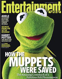 Kermit the Frog | Kermit The Frog for Entertainment Weekly #1180 November 11th 2011