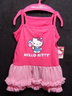 Girl Dog HELLO KITTY LOLLIPOP RUFFLED TUTU DRESS Pink Puppy Pet Costume MEDIUM - http://www.thepuppy.org/girl-dog-hello-kitty-lollipop-ruffled-tutu-dress-pink-puppy-pet-costume-medium/