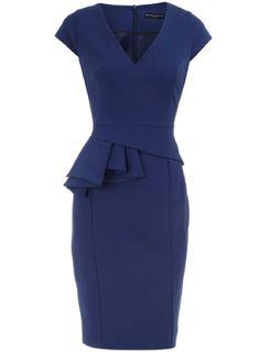 History of Peplum Dresses   navy blue peplum dress a peplum is all about structure it looks great ...