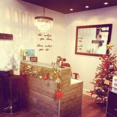 What it looks like when Chritmas is in our salon