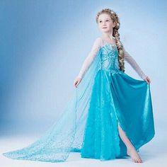 wholesale child clothes frozen elsa dress for kids