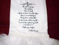 Wuthering Heights Be With Me Always ... Scarf With by missbohemia, £14.00