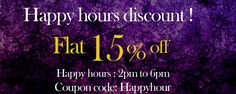 Zohraa.com presenting great offer for our #valuable customers Happy hours #discount !!  Grab Now@ http://zohraa.com/shop/newarrival.html