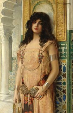 Lеon Francois Comerre 017 - An Eastern Beauty (447x694, 151Kb)