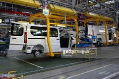 Valenciennes, France - March 30th, 2016: Cars production line in... #sevel: Valenciennes, France - March 30th, 2016: Cars… #sevel