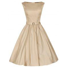 Вечернее платье в стиле 50-х Одри Хепберн, Песочное