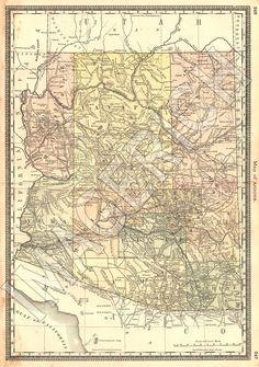 vintage az map