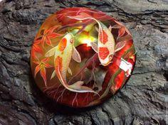 Купить или заказать Рубиновый закат в интернет-магазине на Ярмарке Мастеров. Роспись акриловыми красками по перламутру БРОНЬ…