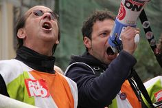 Telemadrid Protest dismissed workers. Radio and Television public,Telemadrid lays off more than 800 workers