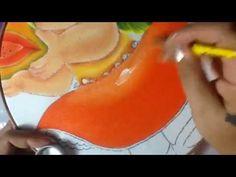 Pintura en tela niña papaya # 4 con cony - YouTube