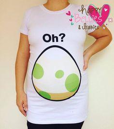 Pokémon egg maternity shirt Maternity by Happybelliesanbabies