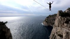 http://www.oneinchdreams.com beautiful video about #slackline and #highline in Cassis, South France