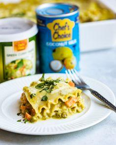 Green Curry Lasagna | Carrots & Flowers Carrot Flowers, Chef's Choice, Vegan Mozzarella, Coconut Sauce, Vegan Vegetarian, Vegan Food, No Noodle Lasagna, Green Curry, Mixed Vegetables