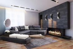 ΣΑΛΟΝΙ ΓΩΝΙΑ Νο 100 Τιμή γωνίας: 1250 € Τιμή σκαμπό: 200 € Purple Walls, Sweet Home, Homes, Couch, Dreams, Decoration, Interior, Furniture, Home Decor